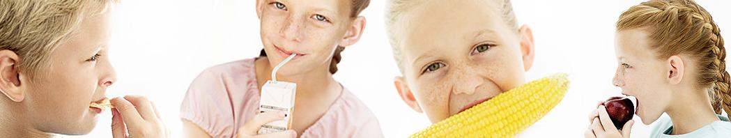 Kinder mit gesundem Essen